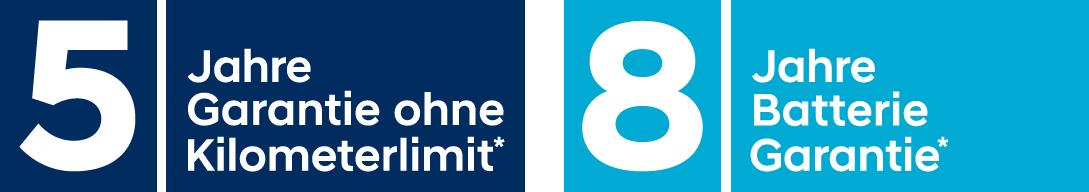 5 Jahre Garantie IONIQ